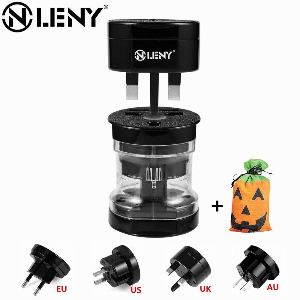 International plug adaptor Universal Electrical Plug Adapter Travel Converter Worldwide Use for US UK EU AU With Halloween Bag