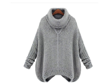 New Winter Women Sweaters And Pullovers Fashion Thick Loose Long Section Turtlenecks Women Long-Sleeved Knitted Sweater C853