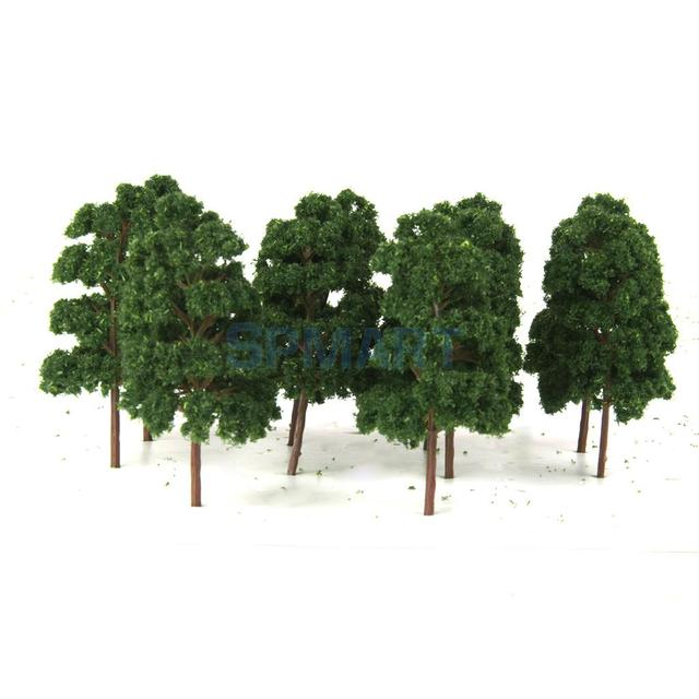 US $7 85 22% OFF|10PCS Model Trees Train Railway Wargame Diorama  Architecture Layout HO Scale-in Model Building Kits from Toys & Hobbies on