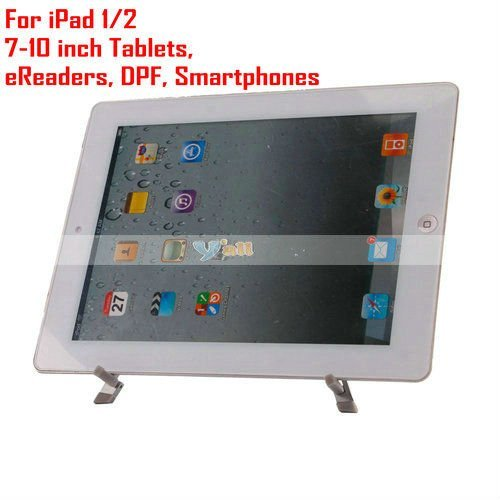 Free Shipping Aluminum Metal Folding Stand Holder For iPad/7-10 inch Tablets/eReaders/DPF/Smartphones - 87001962