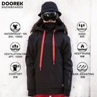 Doorek унисекс Сноубординг куртки для женщин мужчин Толстовка для сноубординга непромокаемая Теплая Лыжная куртка дышащая одежда пальто с ш