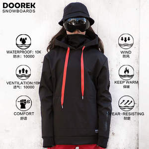 Doorek Snowboard Hoodie Outwear Waterproof Unisex Breathable Women Warm