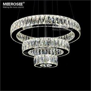 Горячая продажа LED K9 хрустальный подвесной светильник лампа люстры De Cristal Подвеска Современный LED 3 кольца подвесное освещение приспособлен...