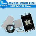 Nueva lintratek gsm 3g celular amplificador de señal móvil repetidor gsm 900 3g WCDMA UMTS 2100 mhz 65dB Doble Banda Celular Amplificador gsm 3g