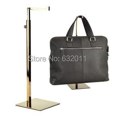 10 pcs Rose gold metal mirror surface Handbag holder Rack Women Bag hair hat holder rack hook <font><b>Display</b></font> showing Standing