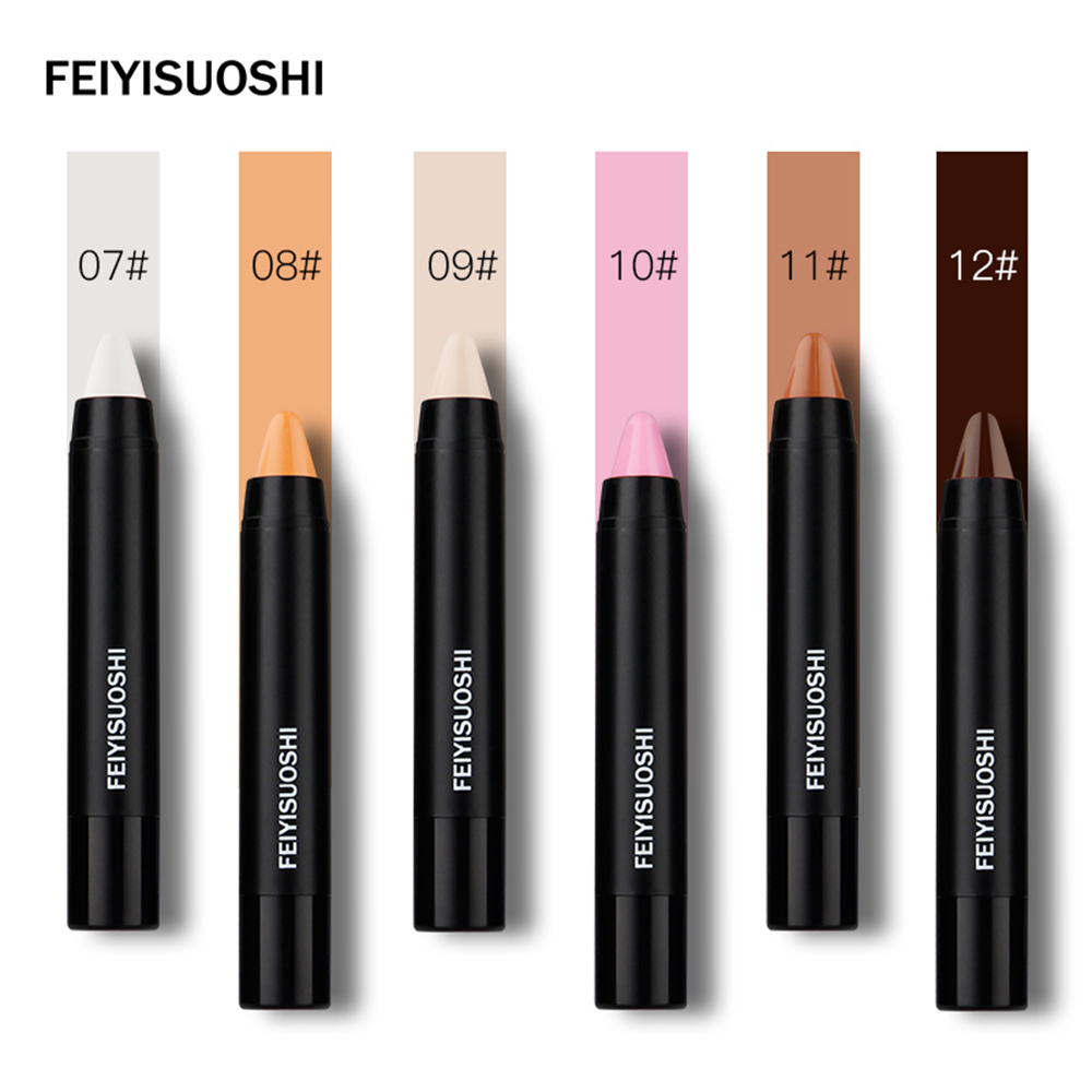 4X6 Colori Tuta Combinazione di Trucco Highlighter Bastone Polvere Shimmer Evidenziando Consistenza Cremosa Argento Shimmer Luce Contorno