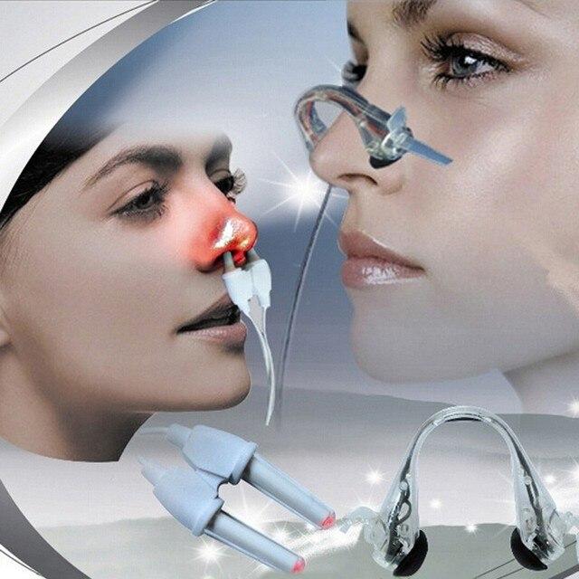 2 modi Laser + Puls Nase Rhinitis Allergie Reliever Behandlung Anti schnarchen Gerät Sinusitis Therapie Massage Clip Gesundheit Pflege