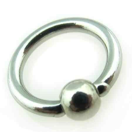 1 ชิ้นขนาดใหญ่สแตนเลสสตีลลูกปัด Captive Hoop PA แหวนปุ่ม Navel แหวน Tragus จมูกแหวน Body Piercing เครื่องประดับ