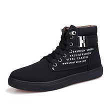 2018 Hot Men Shoes Fashion Warm Fur Winter Men Boots Autumn Leather Footwear For Man New High Top Canvas Casual Shoes Men цена