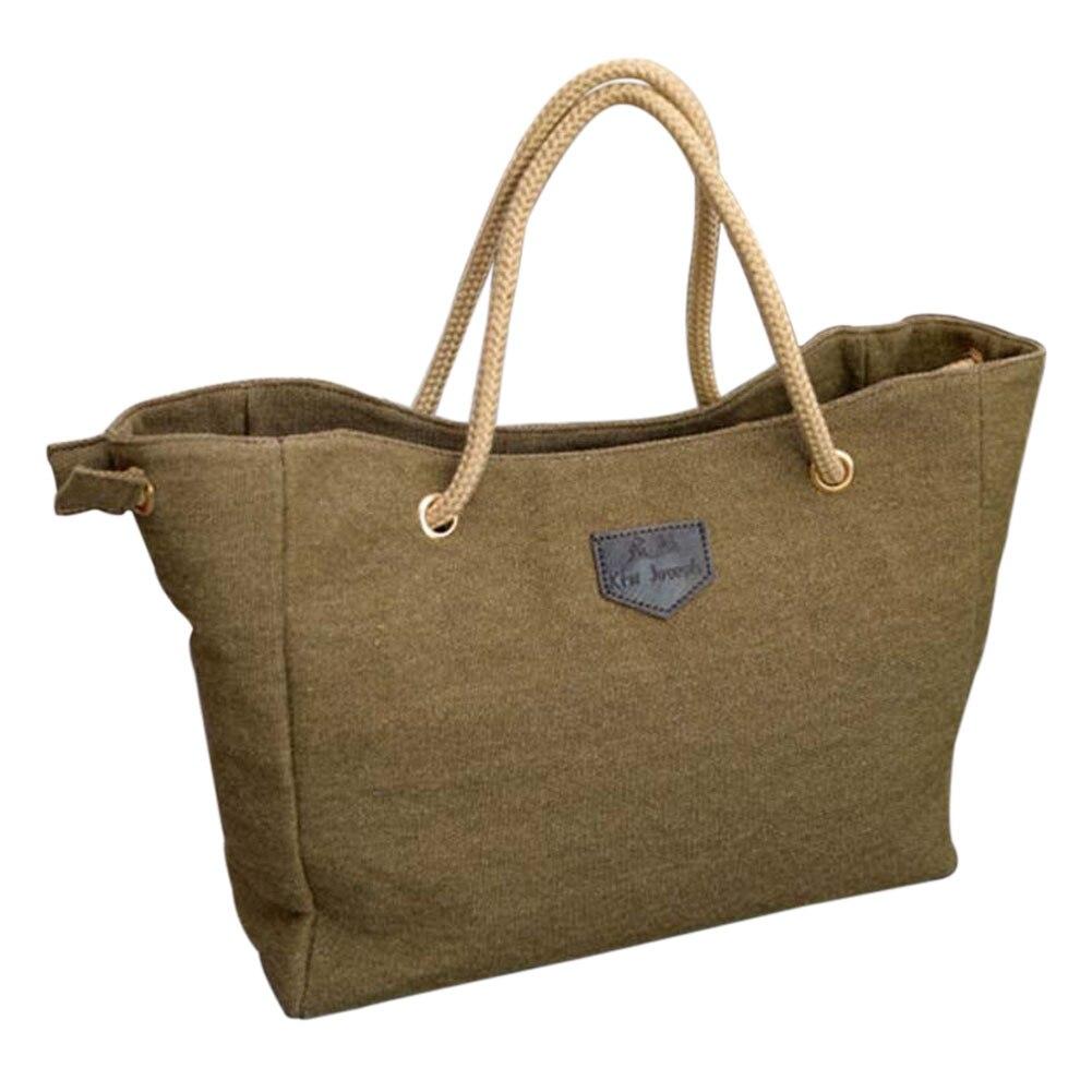 HOBBAGGO Fashion Women Handbag Solid Color Big Canvas Bag Design Classical Package Ladies Casual Over Shoulder Bags  88