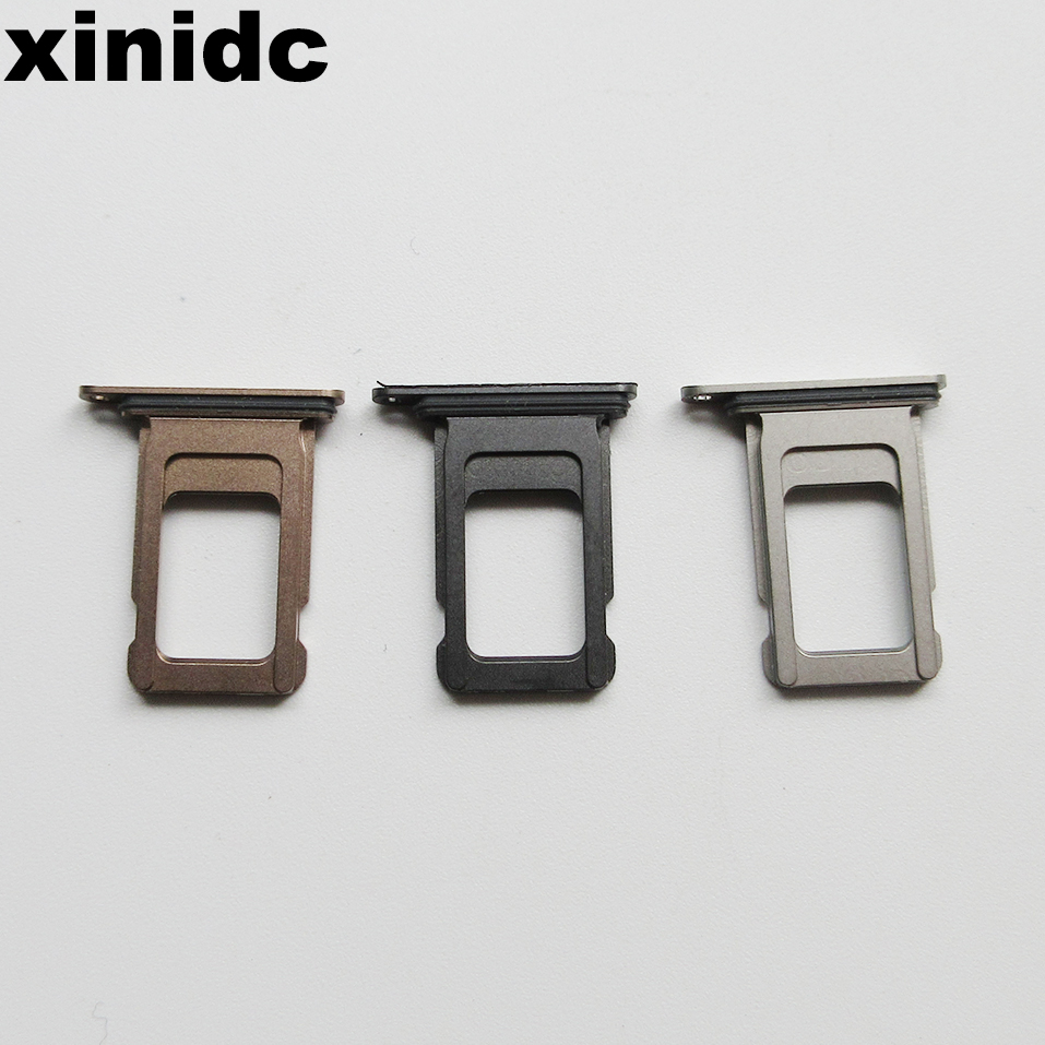 Xinidc 50pcs Dual Single SIM Card Reader Connector Socket Tray Holder Slot Module for iPhone XS