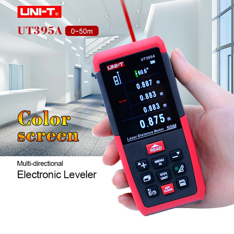 UNI-T UT395A Laser Distance Meters 50m Range Finder with 2MP Lens Rangefinder Best Accuracy 2mm USB Data Export PC Software unit ut395a ut395b ut395c laser distance meters 50m 70m 100m rangefinder best accuracy software data calculate continuous measur