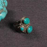 #7 Handcrafted Nepalese 925 Silver Ring 925 Sterling Good Luck Ring Tibetan 925 Silver Women Ring