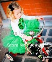 Luz verde falda tutú de las muchachas muchachas de la manera encantadora desgaste del partido MOQ 1 unid balón vestido tutú