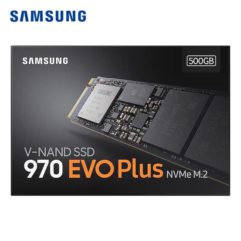 Samsung SSD 970 EVO Mais M2 SSD 250G 500G 1TB NVMe M.2 2280 NVMe SSD Interno Sólido PCIe SSD hdd unidade de Disco Rígido de estado para computador