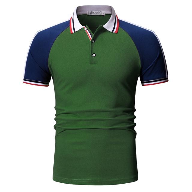 Men's Slim Fit V-Neck Short Sleeves Polo