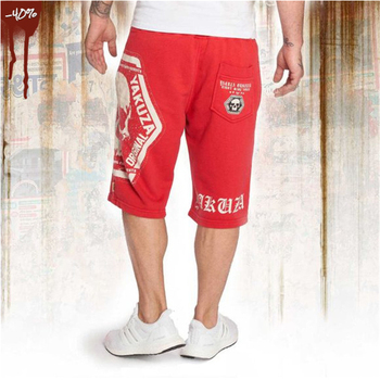 2019 Casual Skull Summer Men's Shorts Sexy Gyms Sweatpants Male Fitness Bodybuilding Workout Man Crossfit Jogger Short 1