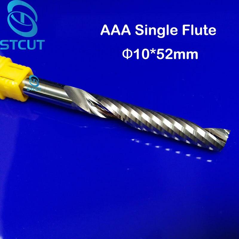 1pc AAA HQ 10 52MM Single Long Flute Bit Carbide End Mill Set CNC Router End