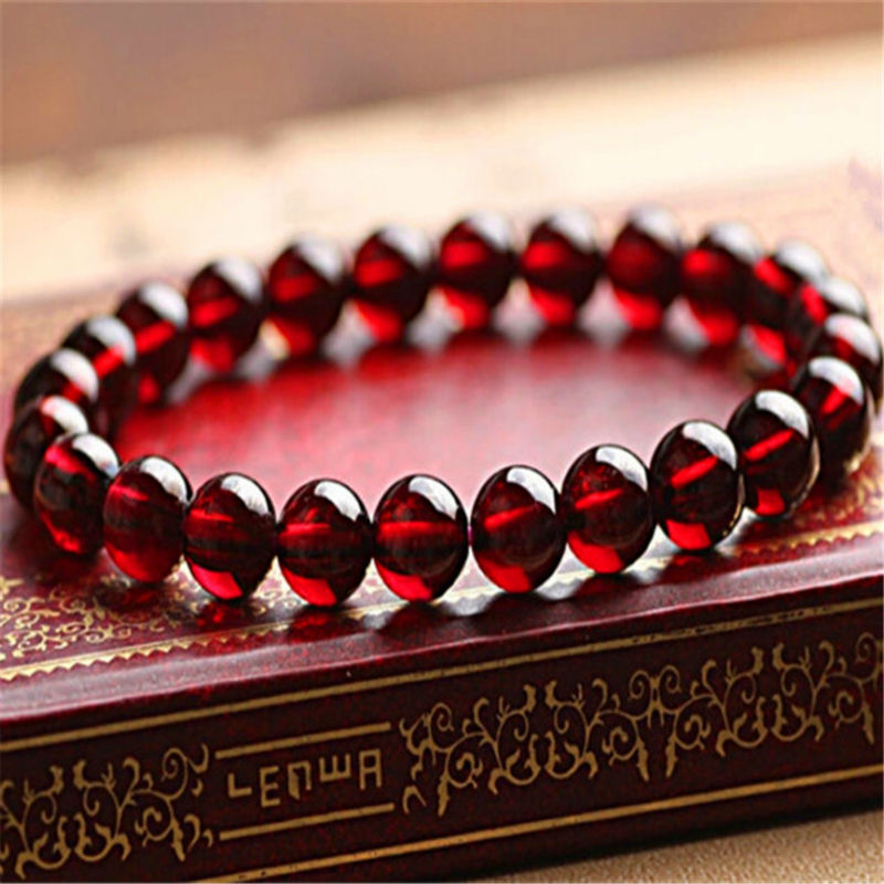 6mm Genuine Precious Natural Wine Red Garnet Quartz Stone Crystal Round Bead Stretch Bracelet Free Shipping 4 6mm natural garnet wrap bracelet silver red wine charms bracelet round beads bracelets for women