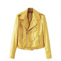 ISHINE 2017 M 3XL New Winter Fashion Streetwear Women Short PU Faux Leather Jacket Rivet Zipper