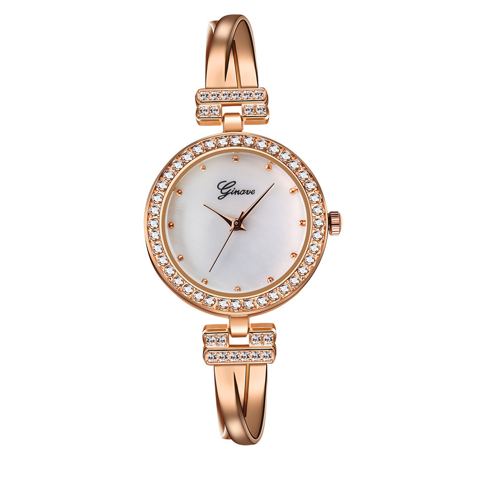 Fashion women watch with diamond gold watch ladies top luxur