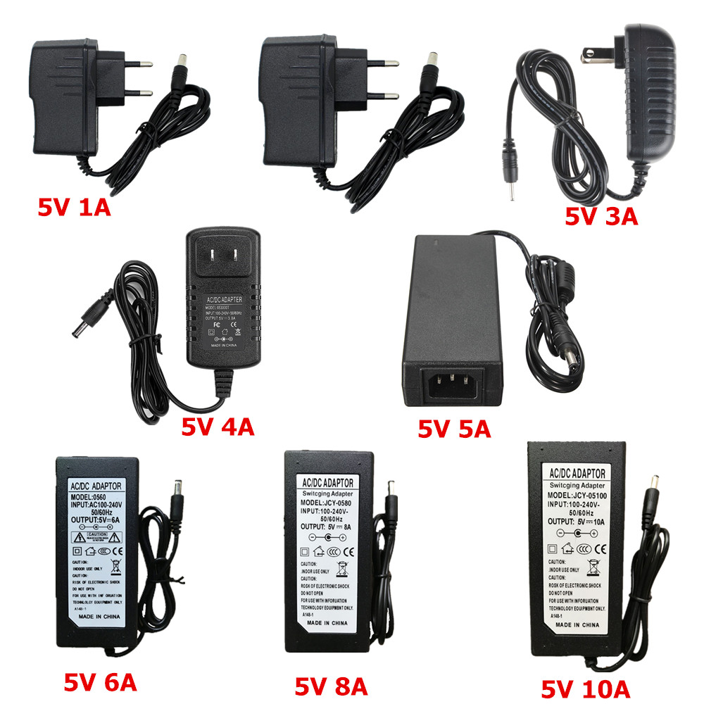 5V 24V 12V Lighting Transformer AC 110V 220V To 12V Power Supply 1A 2A 3A 5A 6A 8A 10A LED Driver 10W 60W 100W 120W Transformer