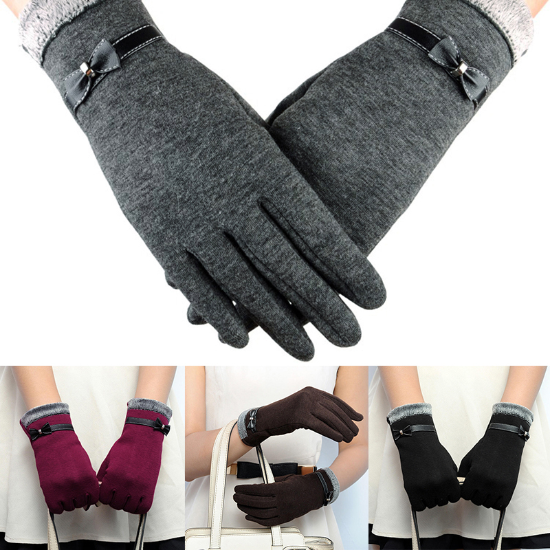 NAIVEROO Waterproof and Warm Touch Screen Gloves made of PU Leather and Conductive Fibers for Women Suitable for Spring and Winter 4