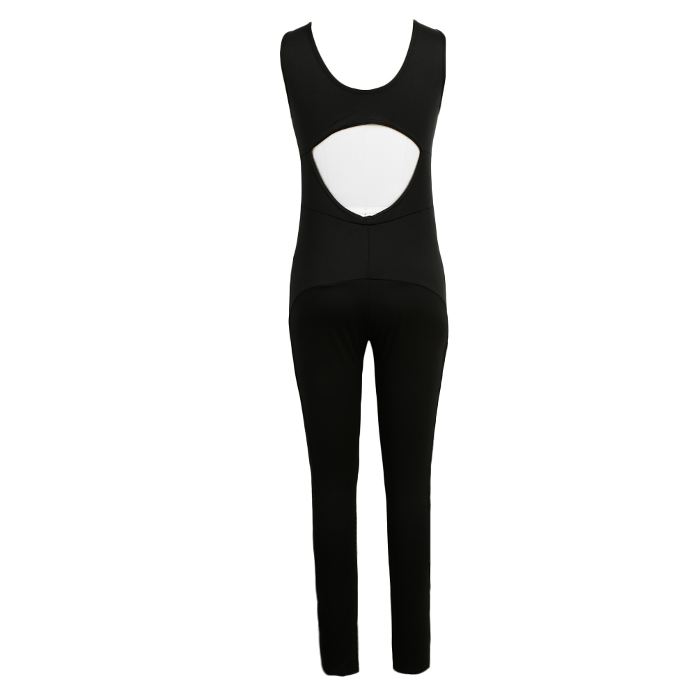 2017 Sexy Summer Rompers Womens Jumpsuit O Neck Sleeveless Mesh Overalls Fitness Workout Bodysuit Leotard Playsuit Black Catsuit 5