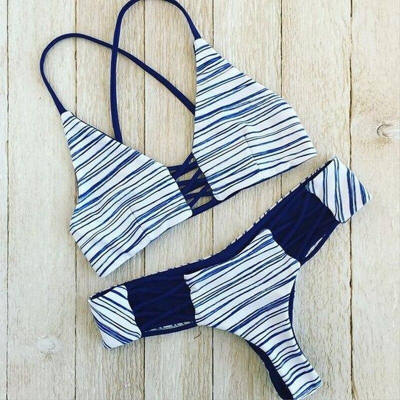 2017 New Bikinis Sexy Women Swimsuit Bandeau Biquinis Padded maillot de bain Femme Monokini Push Up Bikini Set Summer Beachwear  1