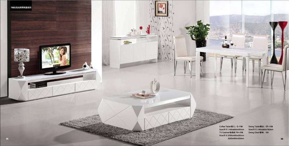 modern design 3 piece set home furniture set dinning table coffee table tv cabinet modern wood furniture yq118