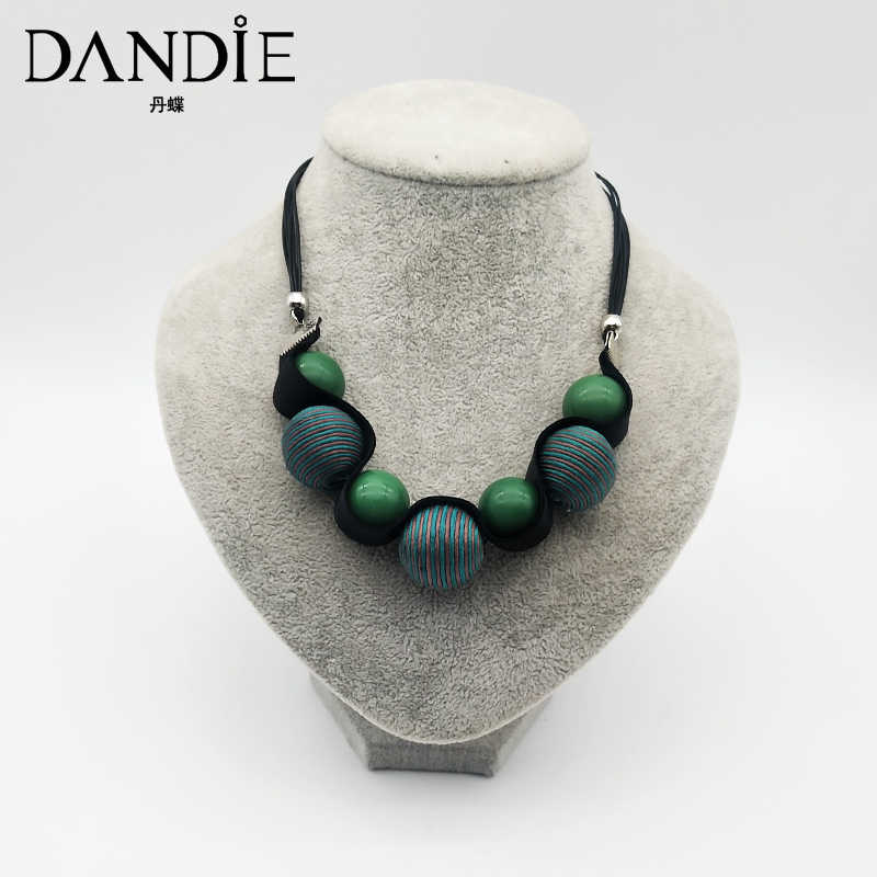 Dandie Acrylic beads, cotton beads necklace, fashion, simple female accessories