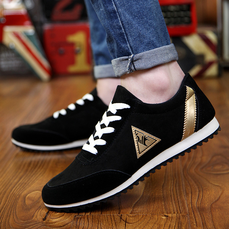 New 2018 Spring/Autumn Casual Shoes For Men Fashion Comfortable Lace-up Adult Male Sneaker Footwear Plus Size 39-44 urbanfind men lace up casual shoes black white blue eu size 39 44 brand fashion men leather footwear for spring autumn
