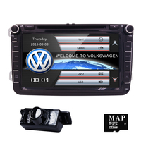 2 Din 8 Inch Car Dvd GPS For VW Polo Jetta Tiguan Passat B6 Cc Fabia