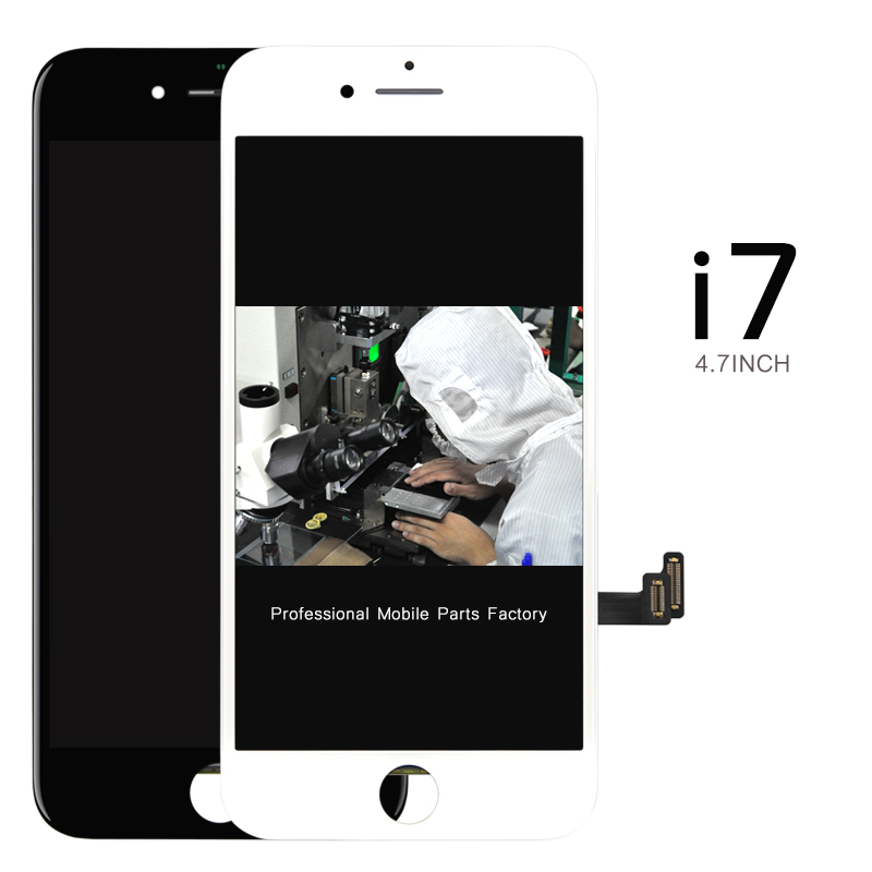 DHL 10pcs 100% tested For iPhone 7 LCD Display Screen Digitizer Assembly - White/Black