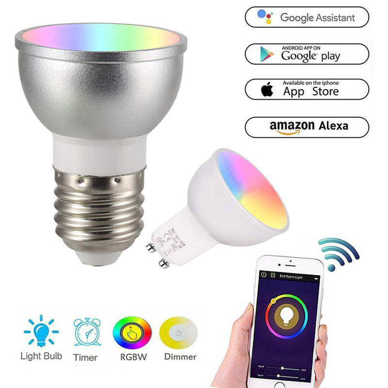 Lighting GU10 Smart Bulb Wireless Wifi LED Lamp Remote Light for Alexa & Google Home Home, Furniture & DIY