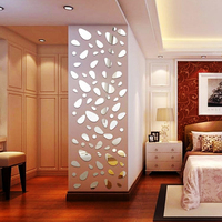 12pcs Set 3d Free Shipping Diy Home Decoration Tv Wall Stick Decoration Mirror Wall Stickers Best