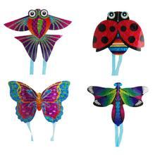 1 шт. открытый Забавный и спортивный змей летающие игрушки для детей интерактивная игрушка мультипликационный самолет Бабочка Насекомое Мини змеи случайный новый