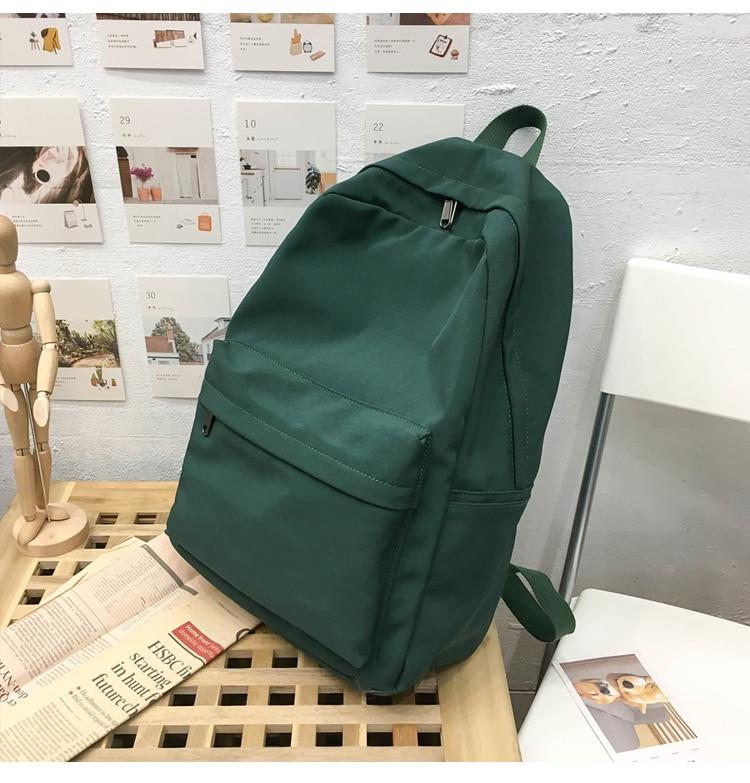 HTB1Z2PPXvb2gK0jSZK9q6yEgFXap 2019 Backpack Women Backpack Solid Color Women Shoulder Bag Fashion School Bag For Teenage Girl Children Backpacks Travel Bag