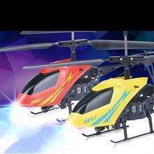 Mini RC Helicóptero 2.5CH Mode2 RC Radio control de Vuelo ABDOMINALES Accidente resistente Drone Con Luz LED para Los Niños Juguetes Para Niños de Regalo
