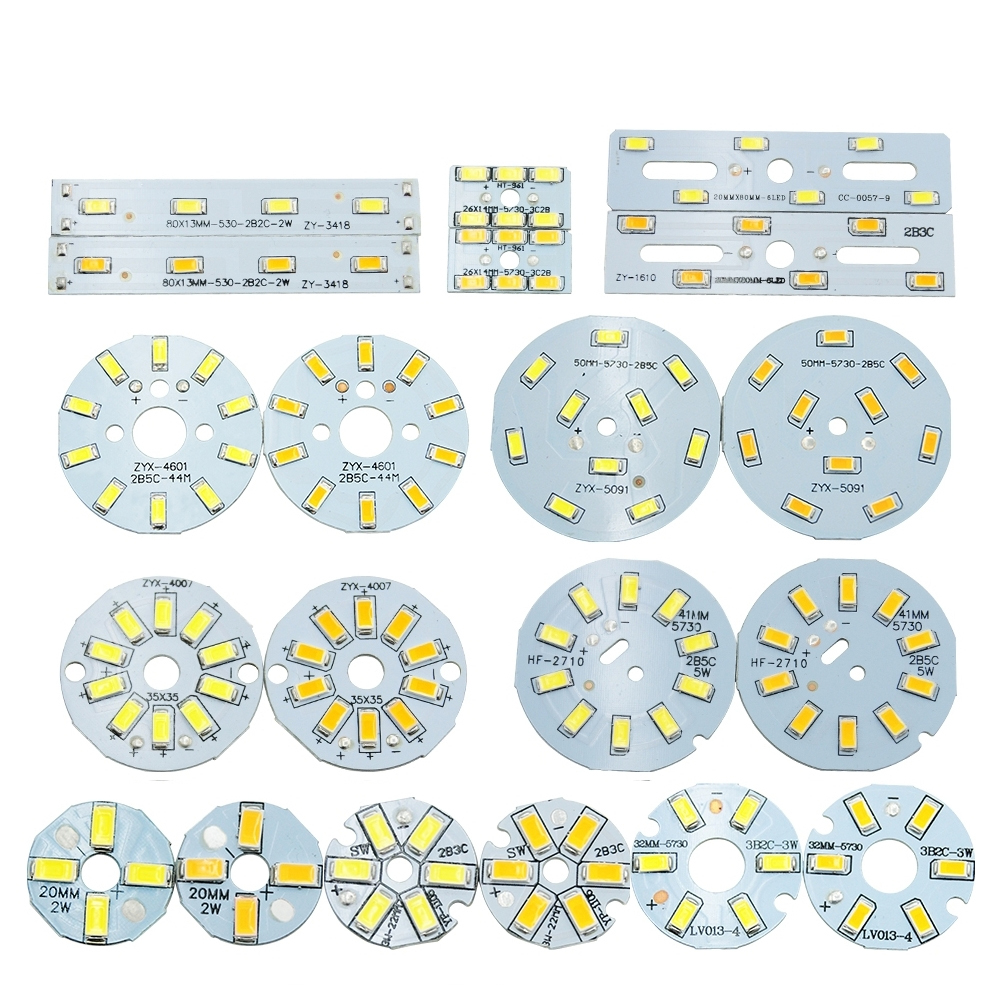 5pcs/lot SMD5730 LED Chip 2W 3W 5W 240-280mA Constant Current Input SMD 5730 Light Bead Board Aluminum Lamp Plate For LED Bulb