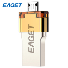 EAGET OTG Mini USB three.zero Reminiscence Stick Pendrive 16GB Metallic USB Flash Drive 32GB Excessive Pace For Laptops Android Good Cellphone 64GB V80