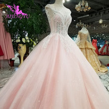 AIJINGYU Egypt Long Tail Ball Colors Gowns Wedding Dress
