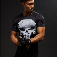 Short Sleeve 3D T Shirt Men T-Shirt Male Crossfit Tee Captain America Superman tshirt Men Fitness Compression Shirt Punisher MMA 1