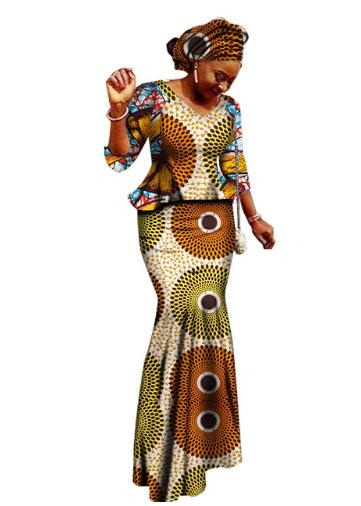 African Women Clothing Sale Cotton 2018 New African Bazin Riche Women Clothing Plus Size M-6XL ...