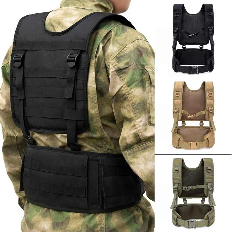 Military Tactical Vest Chest Rig MOLLE Combat Waist Belt Men Army Cummerbunds Airsoft Paintball Equipment Outdoor Hunting Vest