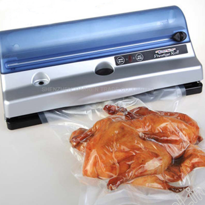 Food Vacuum Sealer Machine Electric Sealing Device Built-in Roll Cutter Household Food Saver Kitchen Packing Machine Home PR4257