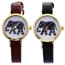 Retor Женщины Часы Слон Печати, кварцевые Наручные Часы Искусственного Кожаный Ремешок Случайные Старинные Женщин часы relojes mujer Дешевые часы