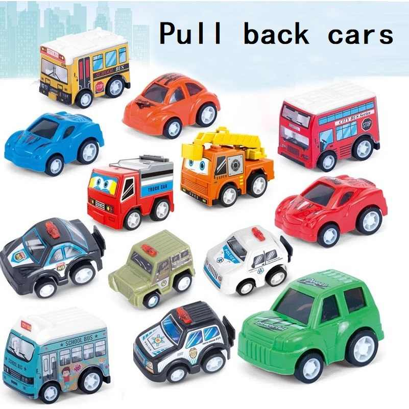 Vehicle Pull Back Car Boys Girl toy Plastic toys children's toys Kids baby fun Christmas new year's gift educational hot sales