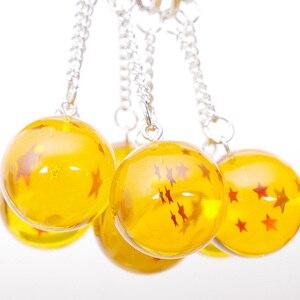 7Ball/Set Dragon Ball Z 1 2 3 4 5 6 7 Stars Crystal Balls keychain Keyring Pendants Dragonball Figure Toy Keyfob(China)