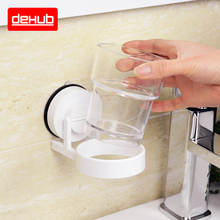 Korea DeHUB Suction Cup New Beverage Holder Suits Waterproof Mouth Frame Crystal Wash Gargle Cup Toothbrush